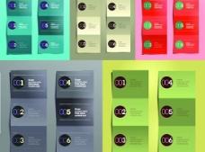 彩色折叠卡片设计矢量素材