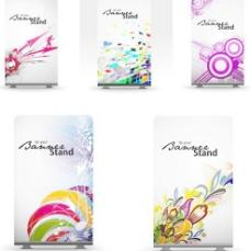 潮流图案炫彩花纹卡片矢量素材