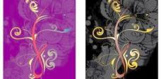 抽象花纹底纹卡片矢量图  AI
