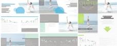 瑜珈健身画册模板CDR矢量素材