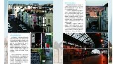 英国小镇旅游宣传册矢量图  AI