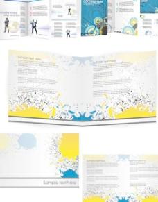 3组版式画册设计矢量素材