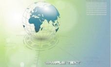 地球模型科技画册矢量素材