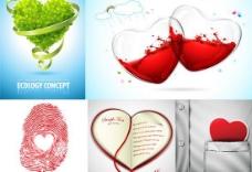 情人节主题设计矢量素材