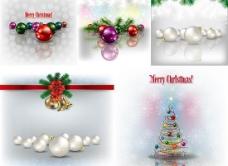 精美圣诞节装饰品背景矢量素材