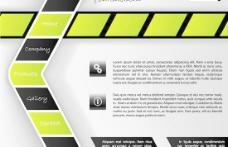 创意箭头网页模板矢量素材