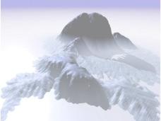 大雪山风景ppt模板