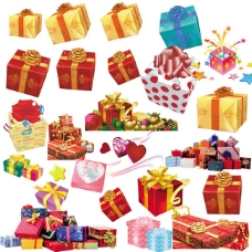 礼品盒psd设计素材