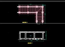 廊架平面立面图