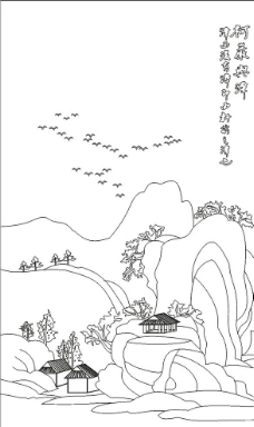 山水矢量图下载图片