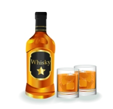 威士忌 酒杯图片