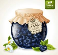 蓝莓果酱图片