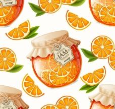 桔子水果罐头图片