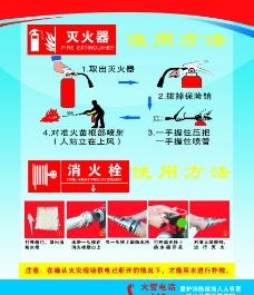 灭火器 消火栓使用方图片