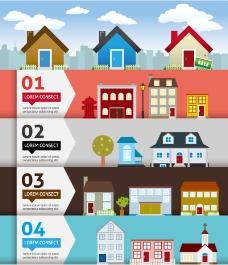 通房屋信息图矢量素材
