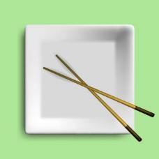盘子和筷子