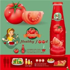 创意卡通番茄酱海报