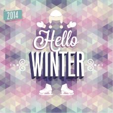 2014抽象冬季海报