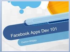 facebook设计ppt模板