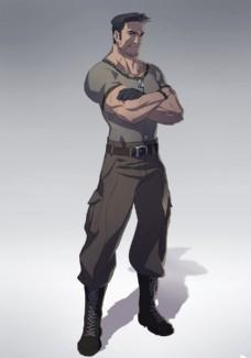 男性军人图片
