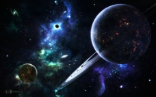 科幻外太空背景图片