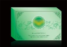 展开平面绿色香皂盒图片