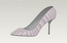 用3d软件设计的性感高跟鞋(立体图)图片