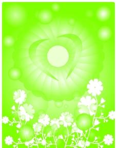 绿色气泡背景图片