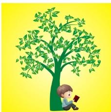 树下看书学习图片图片