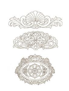 木雕纹样图片