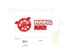 横版美美猪logo图片