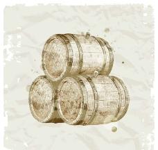 酒桶酿酒图片