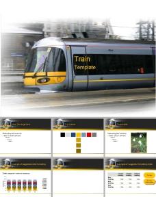 高速列车交通行业ppt模板