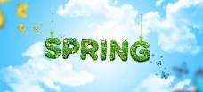 Spring春季活动海报背景PSD素材