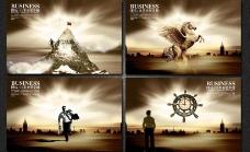 企业宗旨企业文化海报设计PSD素材