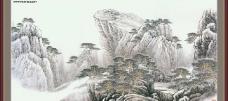 山水风景中堂画86
