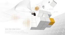 商务科技画册封面PSD分层模
