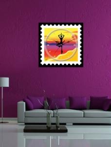 紫色背景墙
