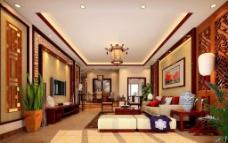 中式客厅素材