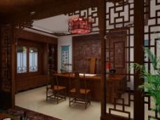 中式书房素材