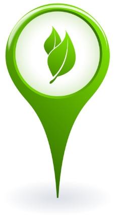 绿色地图标矢量图