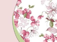 花枝缠绕ppt模板