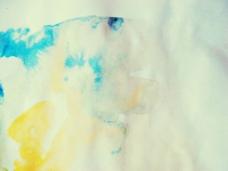 黄蓝色调溶图背景
