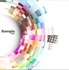 抽象彩色光晕动感背景矢量素材