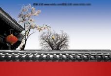 中国风红墙PPT