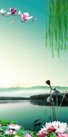聚财山水画图片免费下载,聚财山水画设计素材大全,画