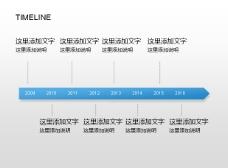 PPT图表素材之时间线