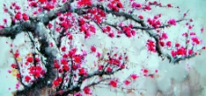 红梅吐艳图片