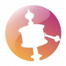 藏族元素的logo
