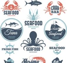 海鲜标志图片